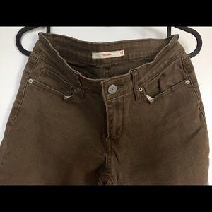 Levi's 710 skinny jeans in dark khaki